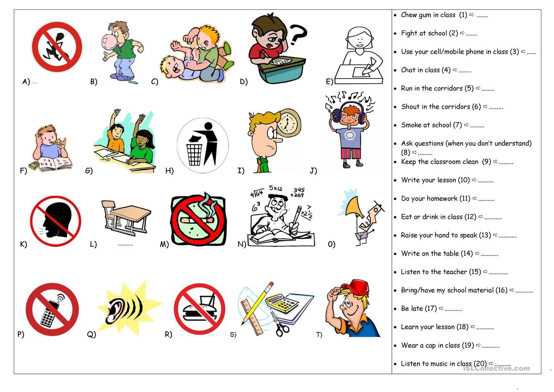 Classroom Rules Worksheet - Free Esl Printable Worksheets Made - Free Printable Classroom Rules Worksheets