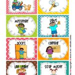 Cleaning Classroom Clipart | Classroom Job Chart | Classroom Helpers   Free Printable Classroom Helper Signs