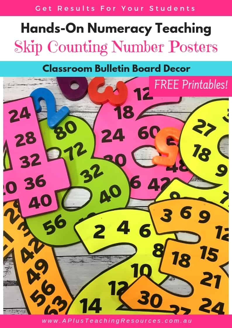 Clever Skip Counting Classroom Posters {Free!} - Free Printable Number Posters