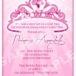 Click On The Free Printable Princess Party Invitation Template To   Free Printable Princess Invitations