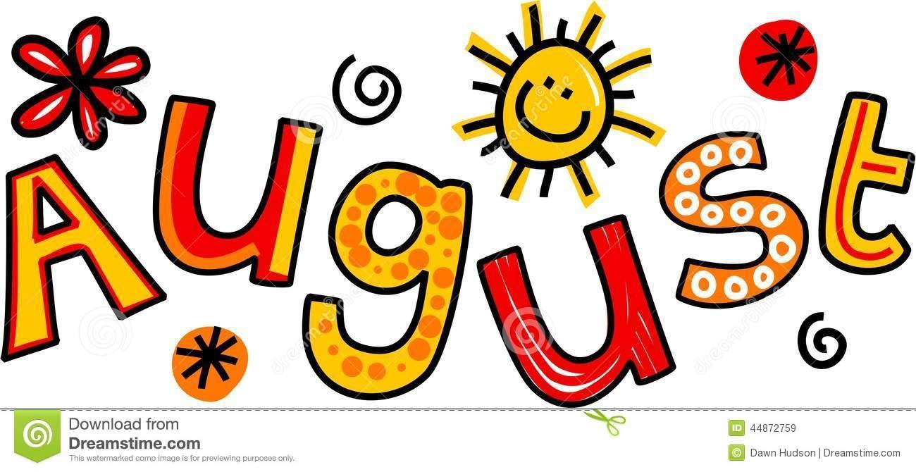 Clip Art Calendar Months August Clip Art Whimsical Cartoon Text - Free Printable Clipart For August