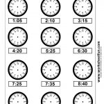 Clock Telling Time Worksheet Printable | Worksheetfun   Free   Free Printable Time Worksheets For Kindergarten
