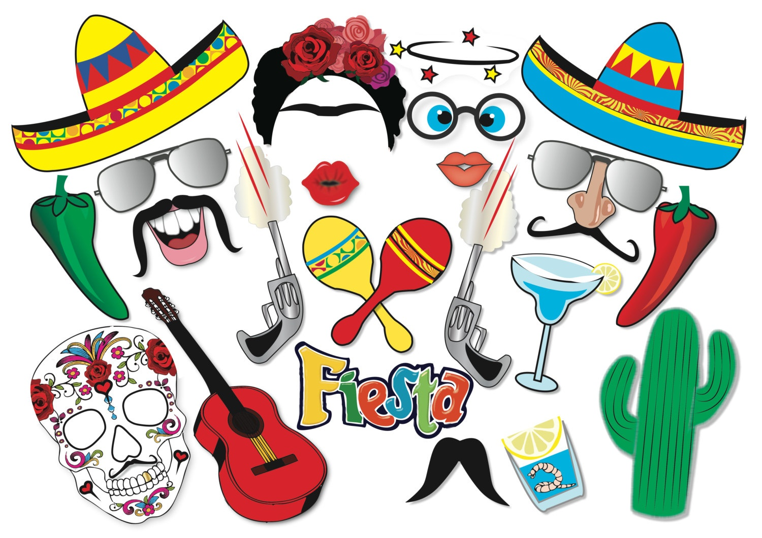 Collection Of Props Clipart | Free Download Best Props Clipart On - Free Printable Cinco De Mayo Photo Booth Props