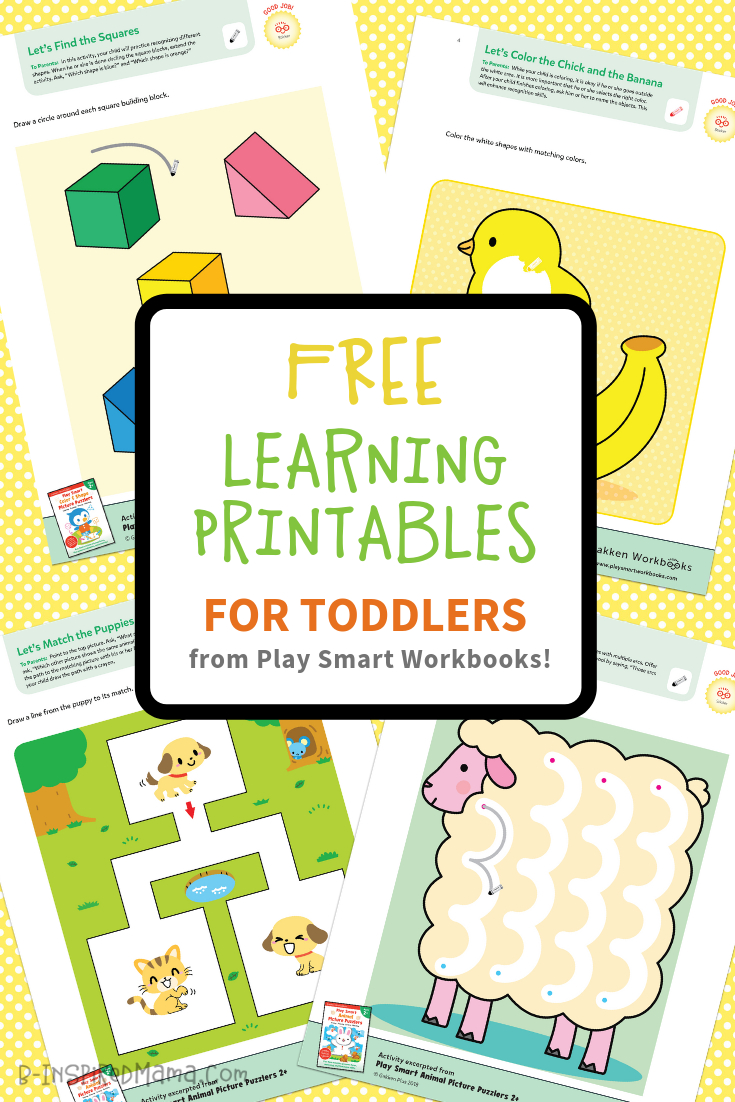 Colorful & Fun Free Printables For Toddlers To Learn From - Toddler Learning Activities Printable Free