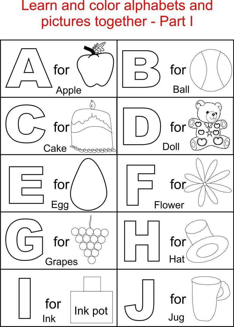 Coloring Book World ~ Stunning Alphabetloring Sheets Book World Free - Free Printable Preschool Alphabet Coloring Pages