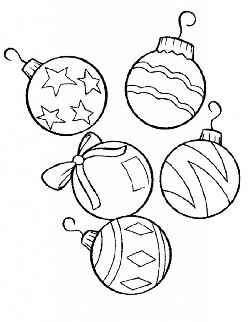 Coloring ~ Coloring Christmas Ornament Color Pages Free Printable - Free Printable Christmas Tree Ornaments To Color