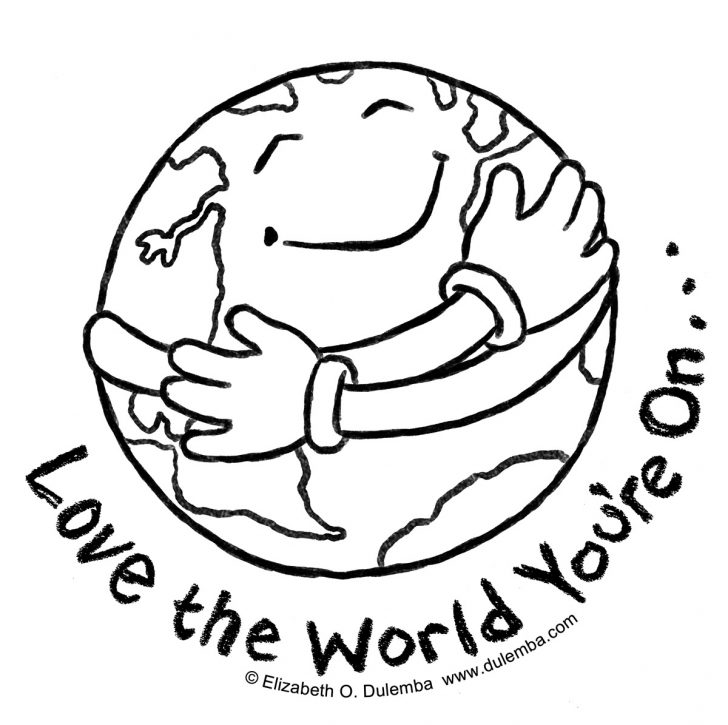 Earth Coloring Pages Free Printable
