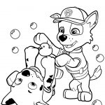 Coloring Ideas : Paw Patrol Rocky And Marshall Coloring Page   Free Printable Paw Patrol Coloring Pages
