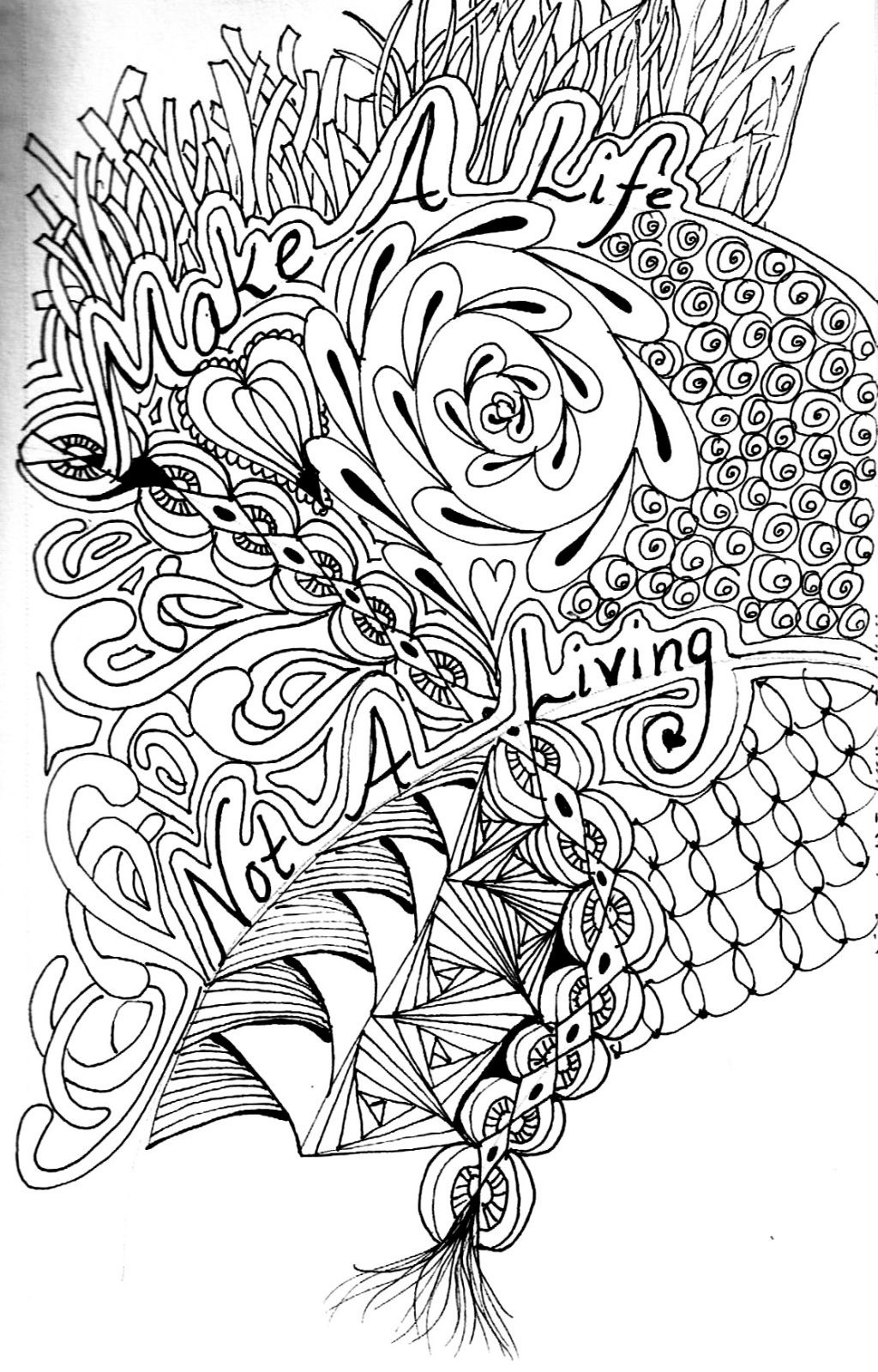 Coloring Page ~ Free Printable Advanced Coloring Pages For Adults - Free Printable Coloring Pages For Adults Advanced