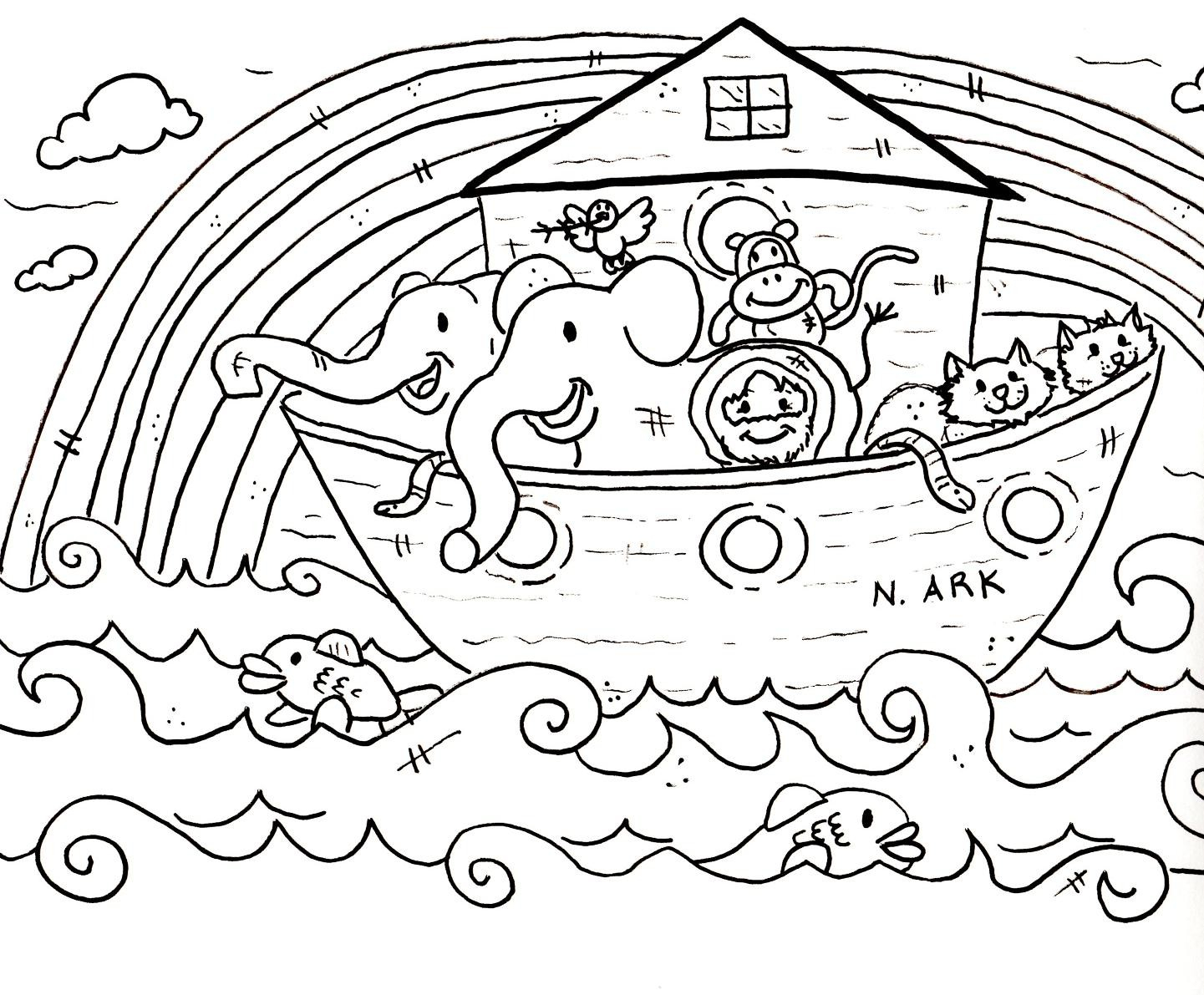 Coloring Pages Bible Stories Preschoolers | Freshcols - Free Printable Bible Story Coloring Pages