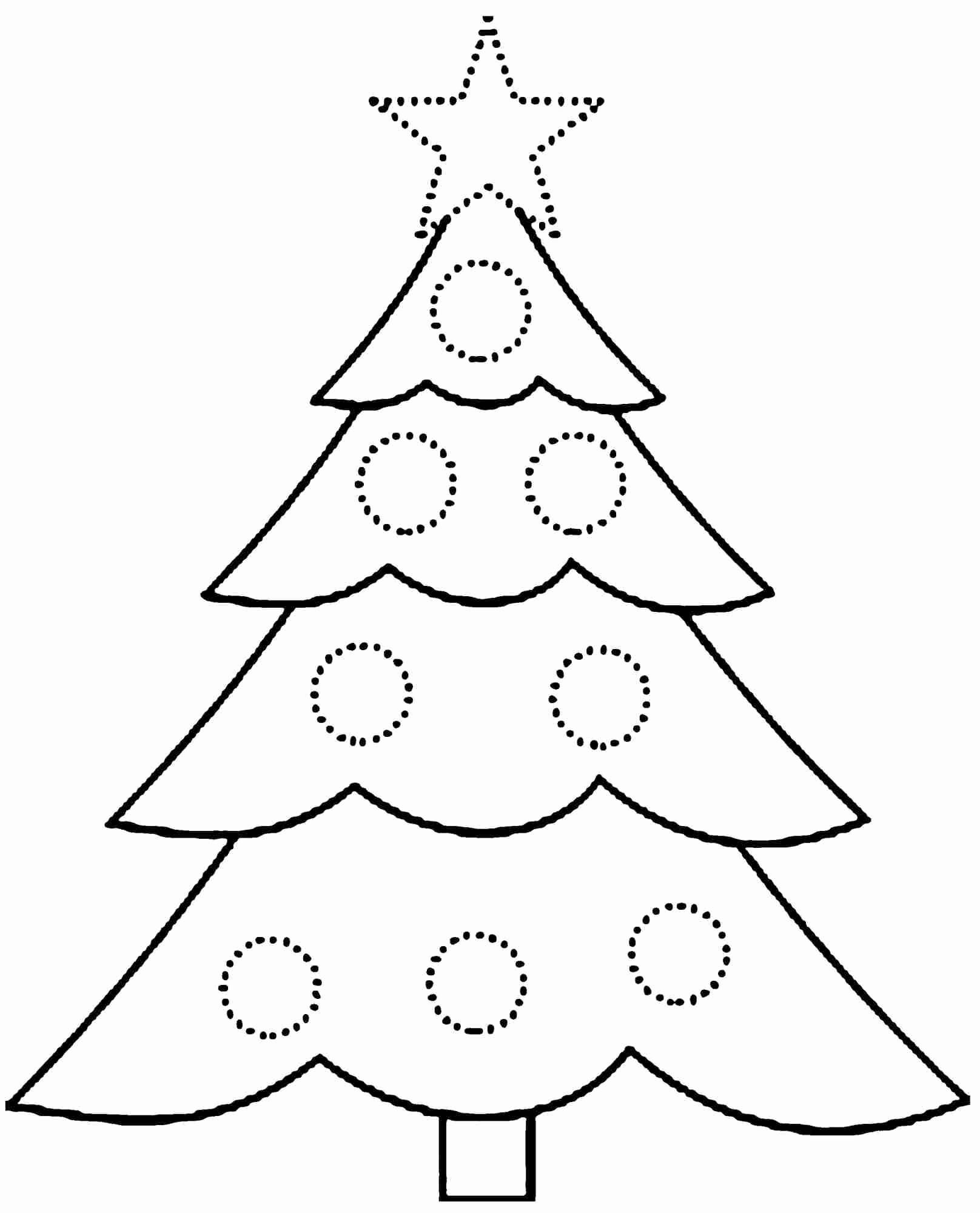 Coloring Pages Christmas Holly Best Free Printable Christmas Tree - Free Printable Christmas Tree Images