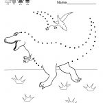 Coloring Pages Ideas: Connect The Dots Coloring Pages Dinosaur   Free Printable Dot To Dot Easy