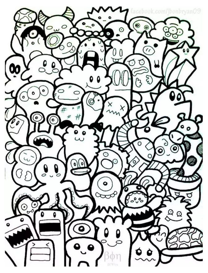 Coloring Pages Ideas: Doodle Art Doodling Adult Coloring Pages Ideas - Free Printable Doodle Art Coloring Pages