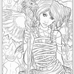 Coloring Pages Ideas: Fantasy Coloring Pages Lezincnyc Com For   Free Printable Coloring Pages For Adults Dark Fairies