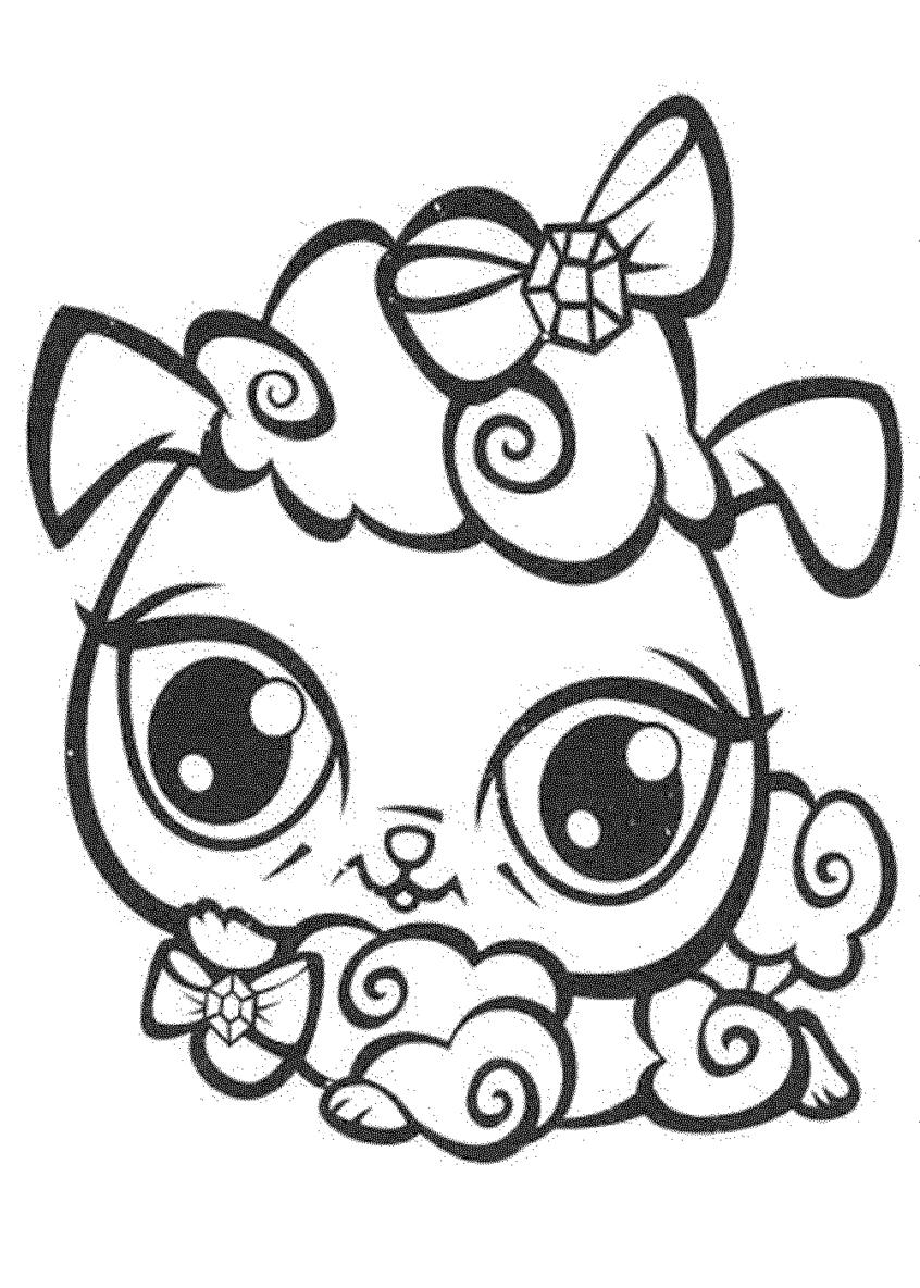 Coloring Pages Ideas: Littlest Pet Shop Dog Coloring Pages Printable - Littlest Pet Shop Free Printable Coloring Pages