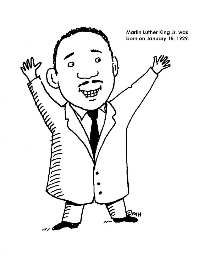 Coloring Pages Ideas: Martin Luther King Coloring Pictures Photo - Martin Luther King Free Printable Coloring Pages