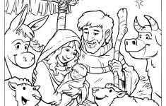 Coloring Pages Ideas: Nativity Scene Coloring Page. Precious Moments – Free Printable Nativity Scene Pictures