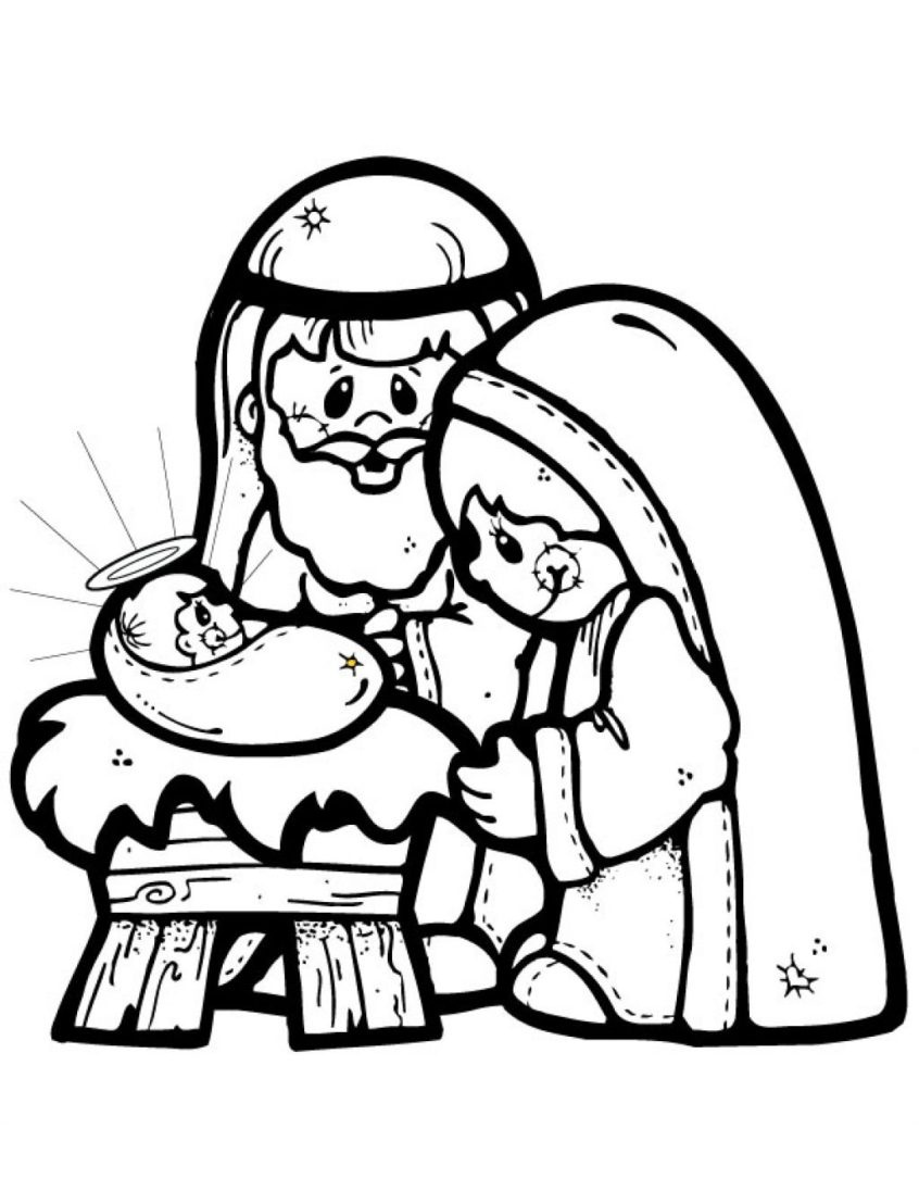 Coloring Pages Ideas: Precious Momentsativity Coloring Page For Kids - Free Printable Christmas Baby Jesus Coloring Pages