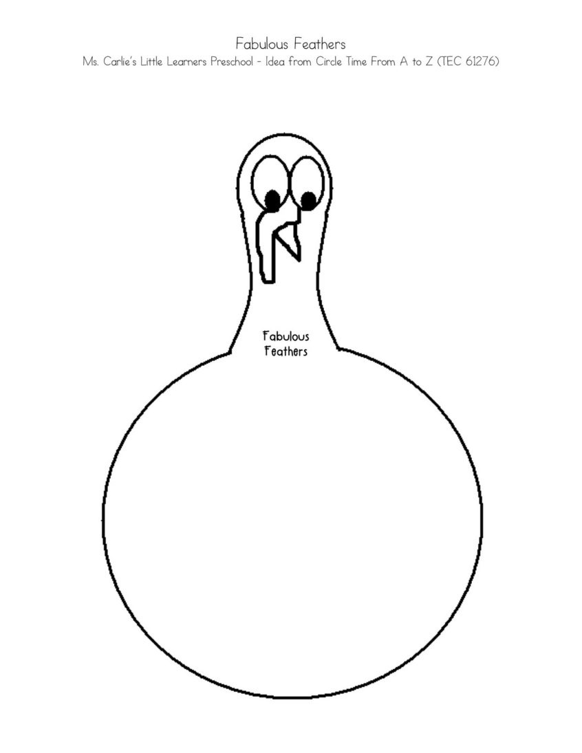 Coloring Pages Ideas: Turkey Coloring Page Free Large Images School - Free Printable Turkey Template