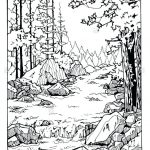 Coloring Pages: River Scene Coloring Page Nature Pages Tree With   Free Printable Waterfall Coloring Pages