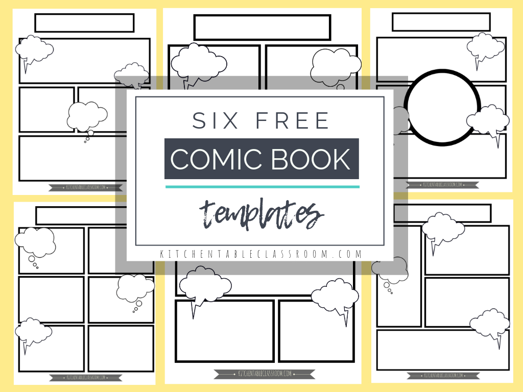 Comic Book Templates - Free Printable Pages - The Kitchen Table - Free Printable Books