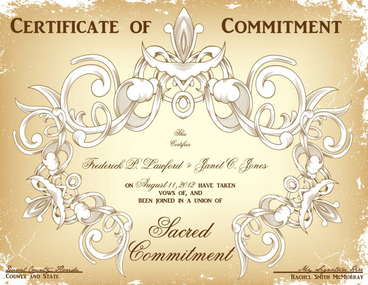 Commitment Certificate Free Printable