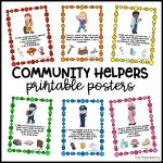 Community Helpers Printable Posters   Teaching Mama   Free Printable Preschool Posters