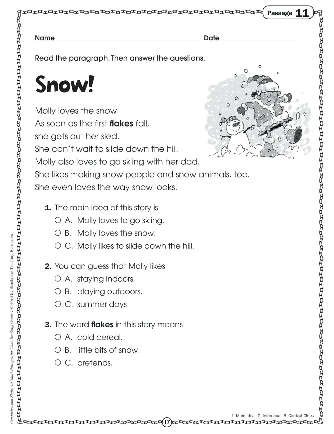 Comprehension Activities For 2Nd Grade Free Printable Reading - Free Printable Short Stories For 2Nd Graders