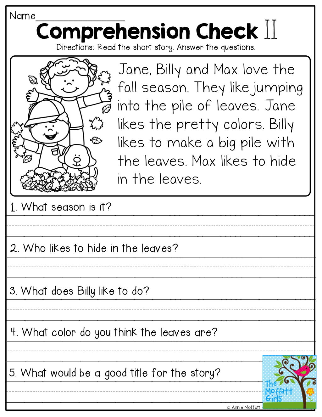 Comprehension Checks And So Many More Useful Printables! | Reading - Free Printable English Comprehension Worksheets For Grade 4