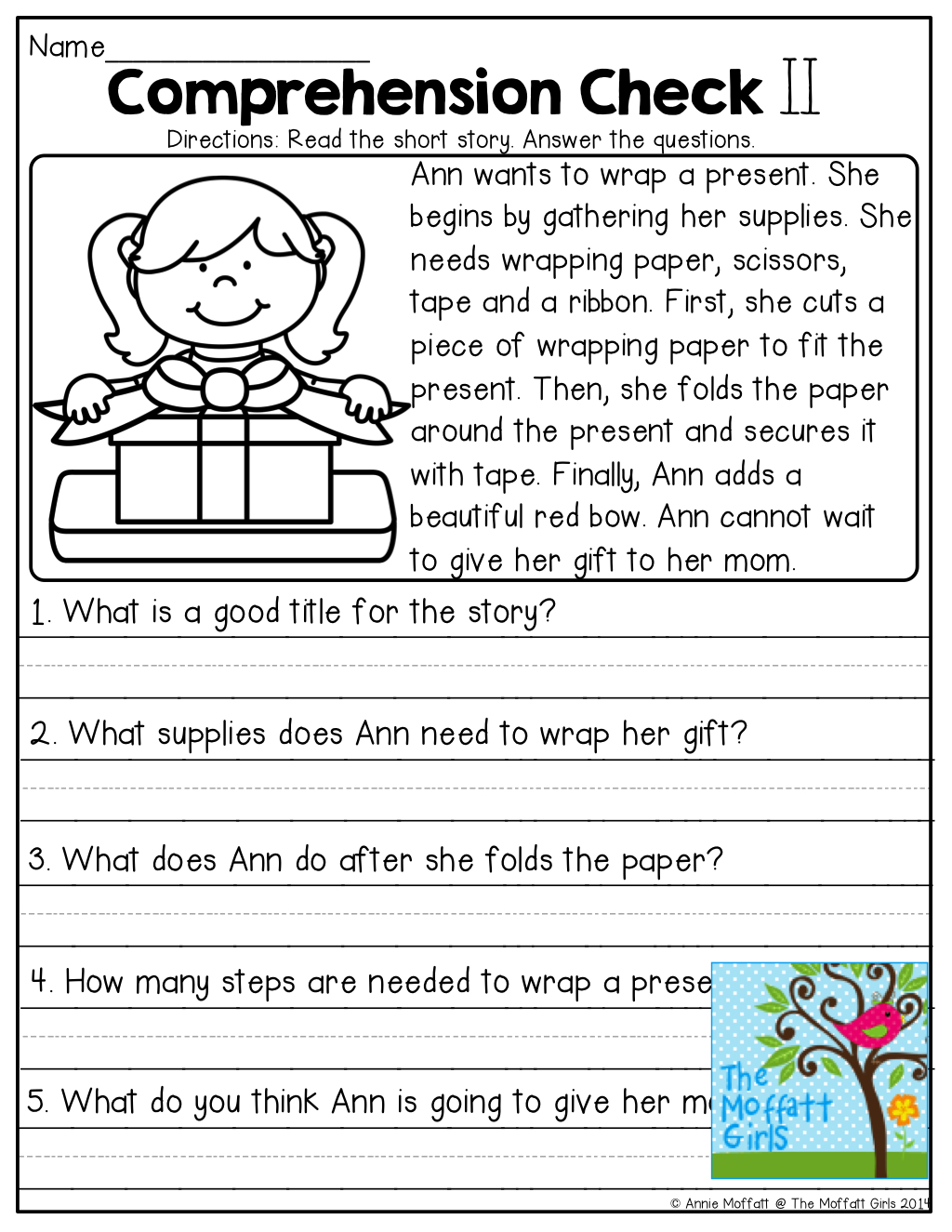 Comprehension Checks And Tons Of Other Great Printables! | Learn It - Free Printable Short Stories With Comprehension Questions