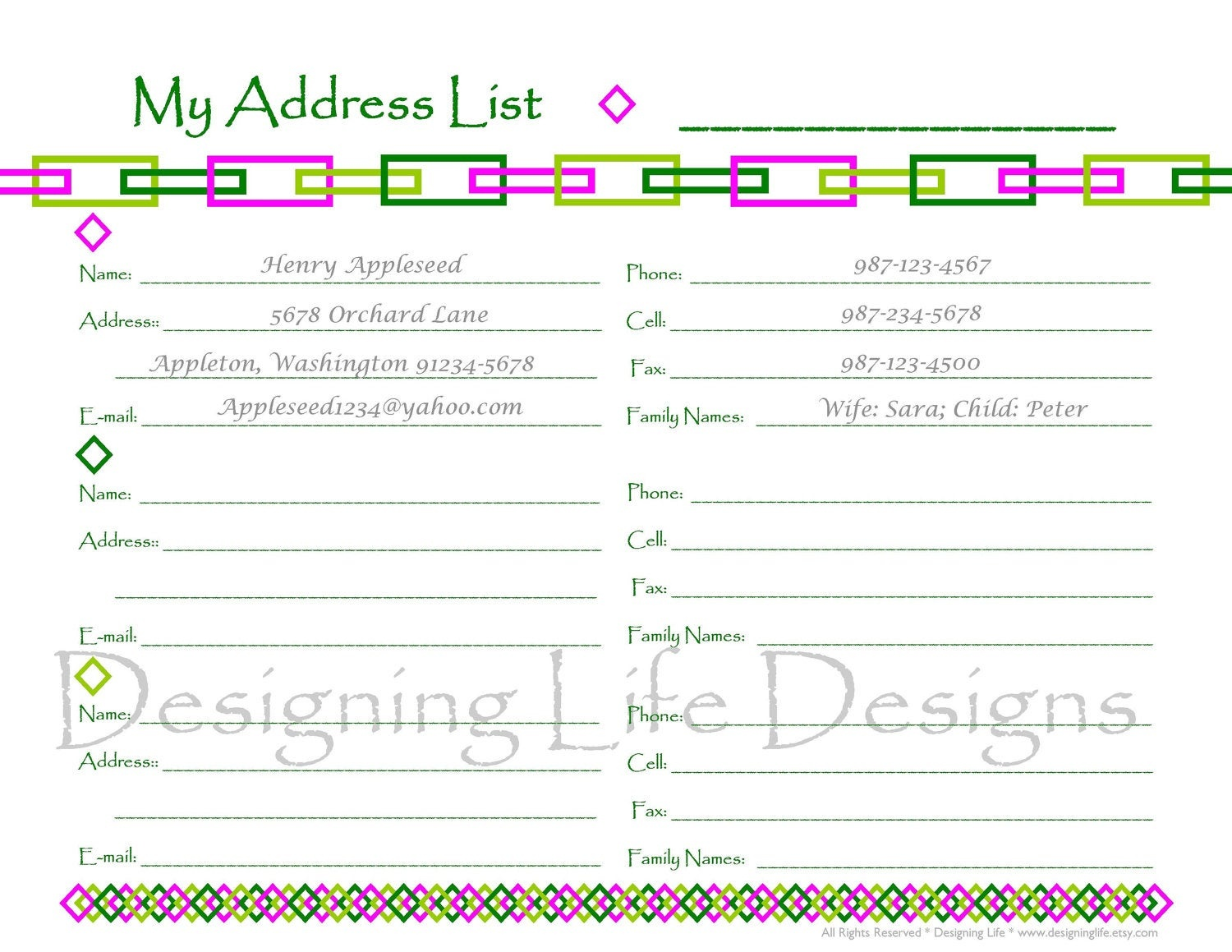 Contact Book Template - Resumepages.gq - Free Printable Address Book Pages