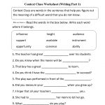Context Clues Worksheet Writing Part 1 Intermediate  Free Worksheets   Free Printable 7Th Grade Vocabulary Worksheets