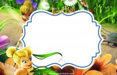 Cool Free Printable Disney Tinkerbell Birthday Invitation Template – Free Tinkerbell Printable Birthday Invitations