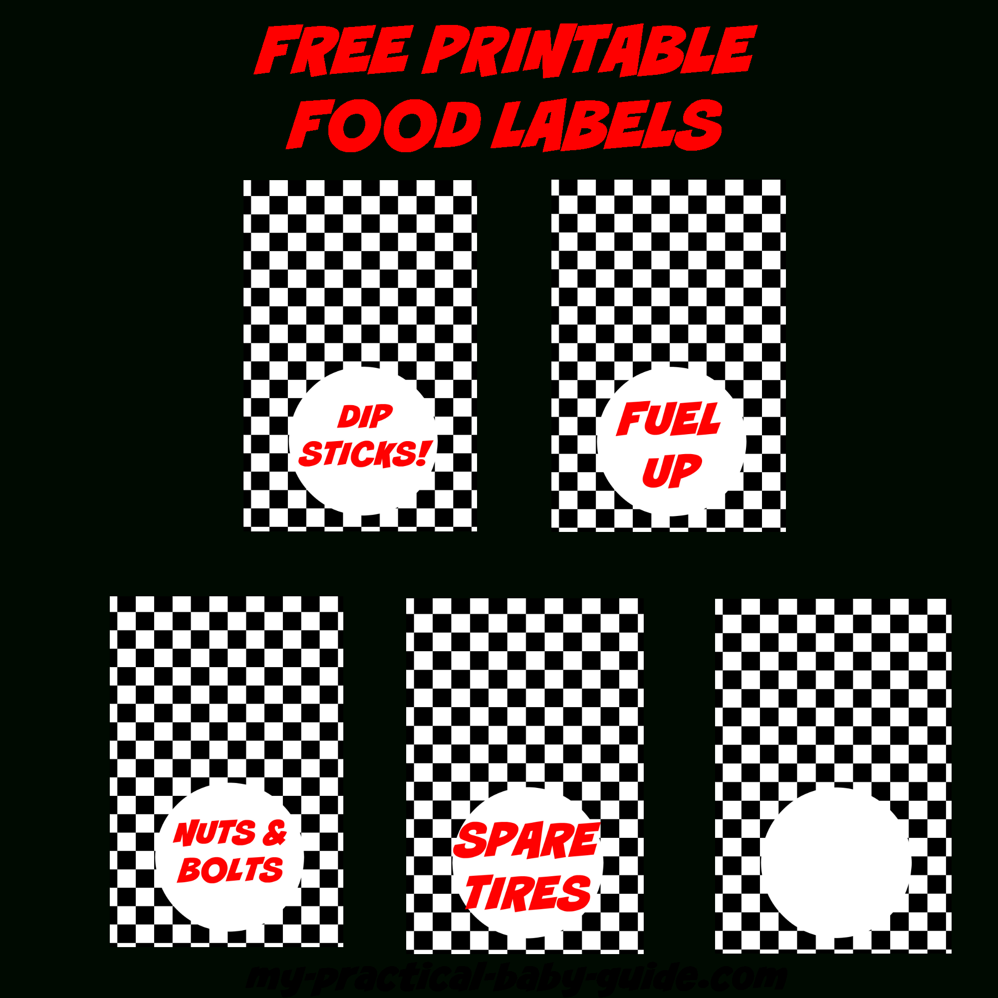 Coolest Car Birthday Ideas - My Practical Birthday Guide In 2019 - Free Printable Cars Food Labels