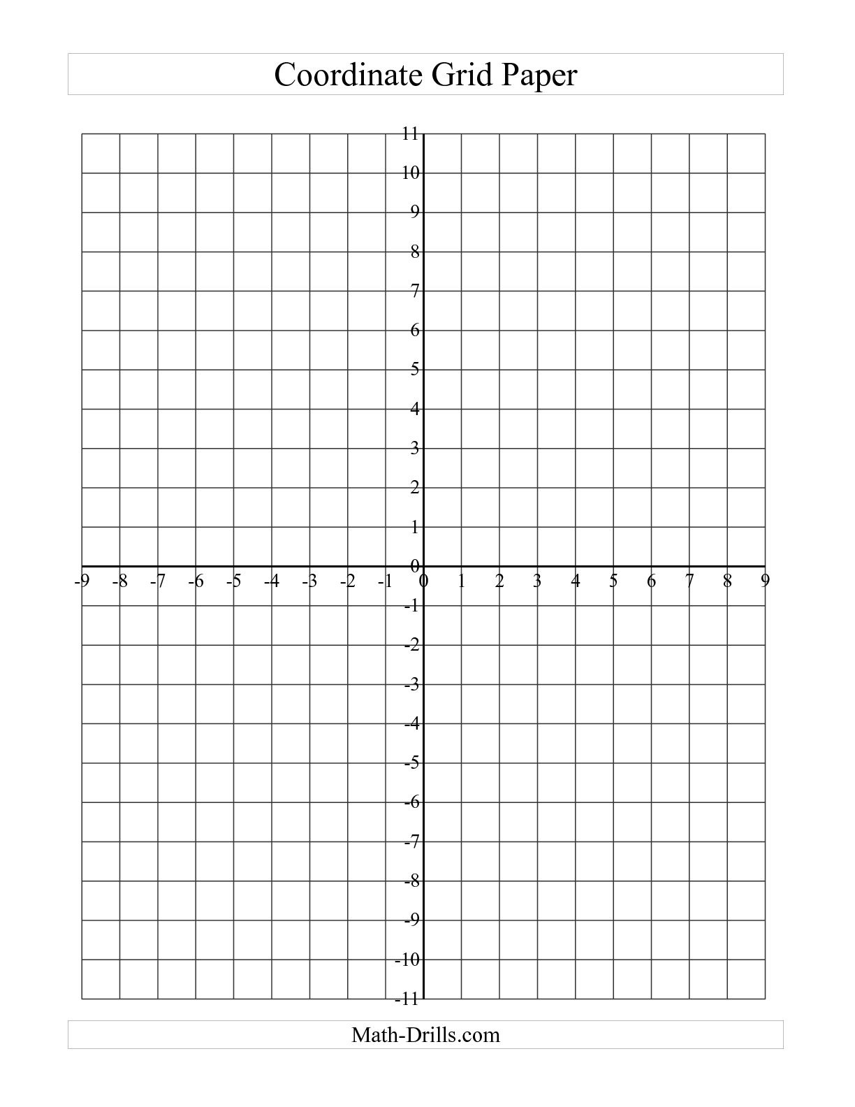 Coordinate Plane Graph Paper Template - Kaza.psstech.co - Free Printable Coordinate Graphing Pictures Worksheets