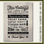 Cottage Svg Bathroom Sign Septic System Do Not Flush Svg | Etsy – Free Printable Do Not Flush Signs