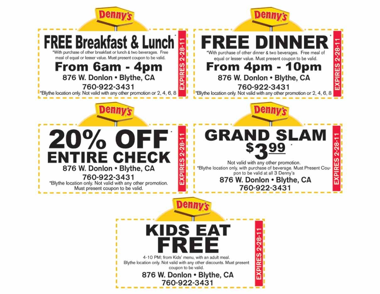Coupon-Code-Dennys-Printable-Coupons-Menu-Coupons - Free Printable Kraft Food Coupons