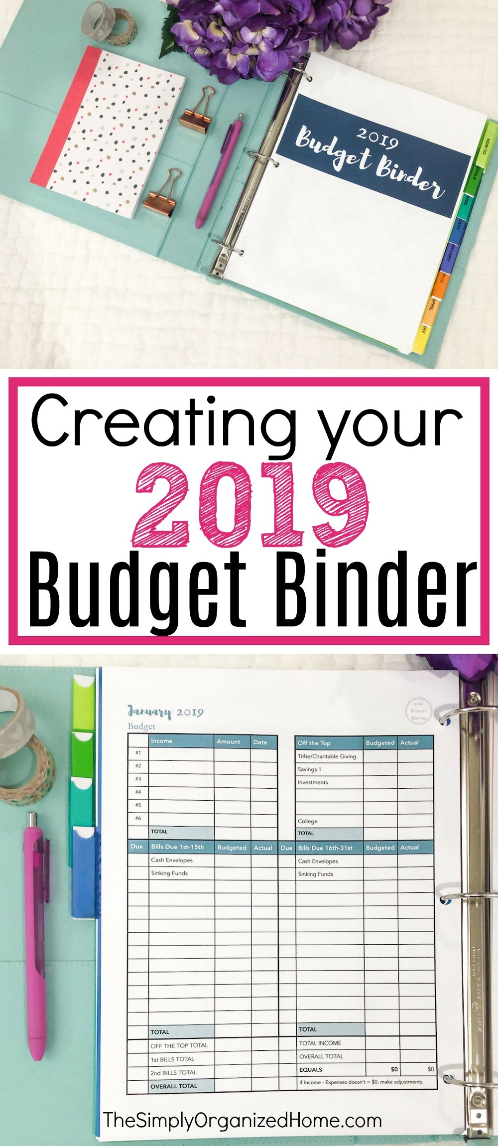 Creating Your 2019 Budget Binder - The Simply Organized Home - Free Printable Budget Binder