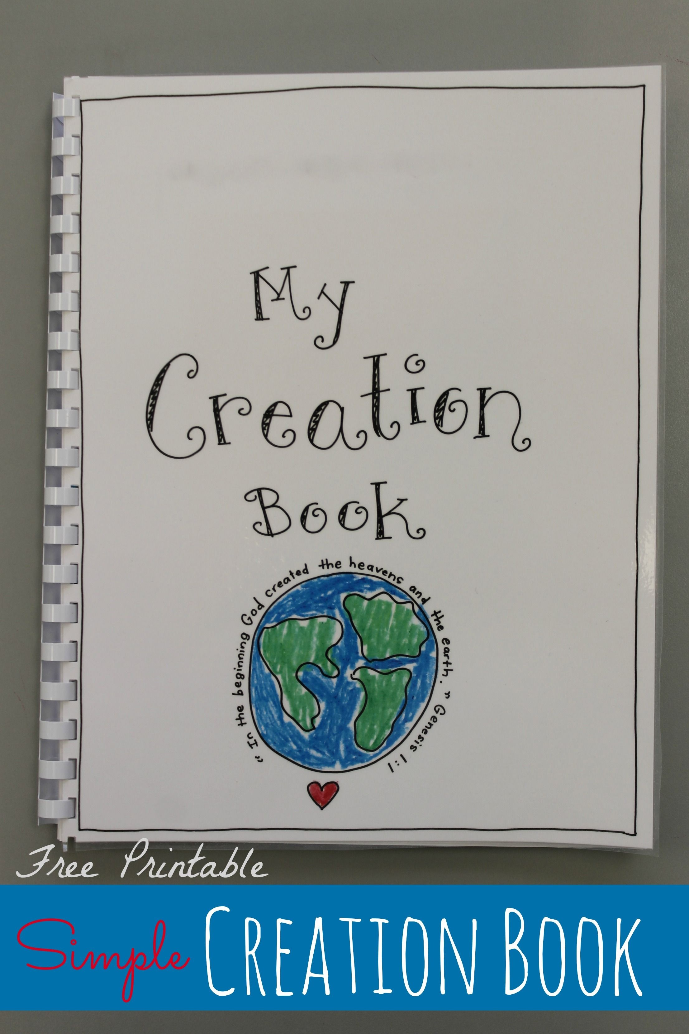 Creation Book - Free Printable | Vbs 2015 Science Lab | Preschool - Free Printable Bible Crafts For Preschoolers