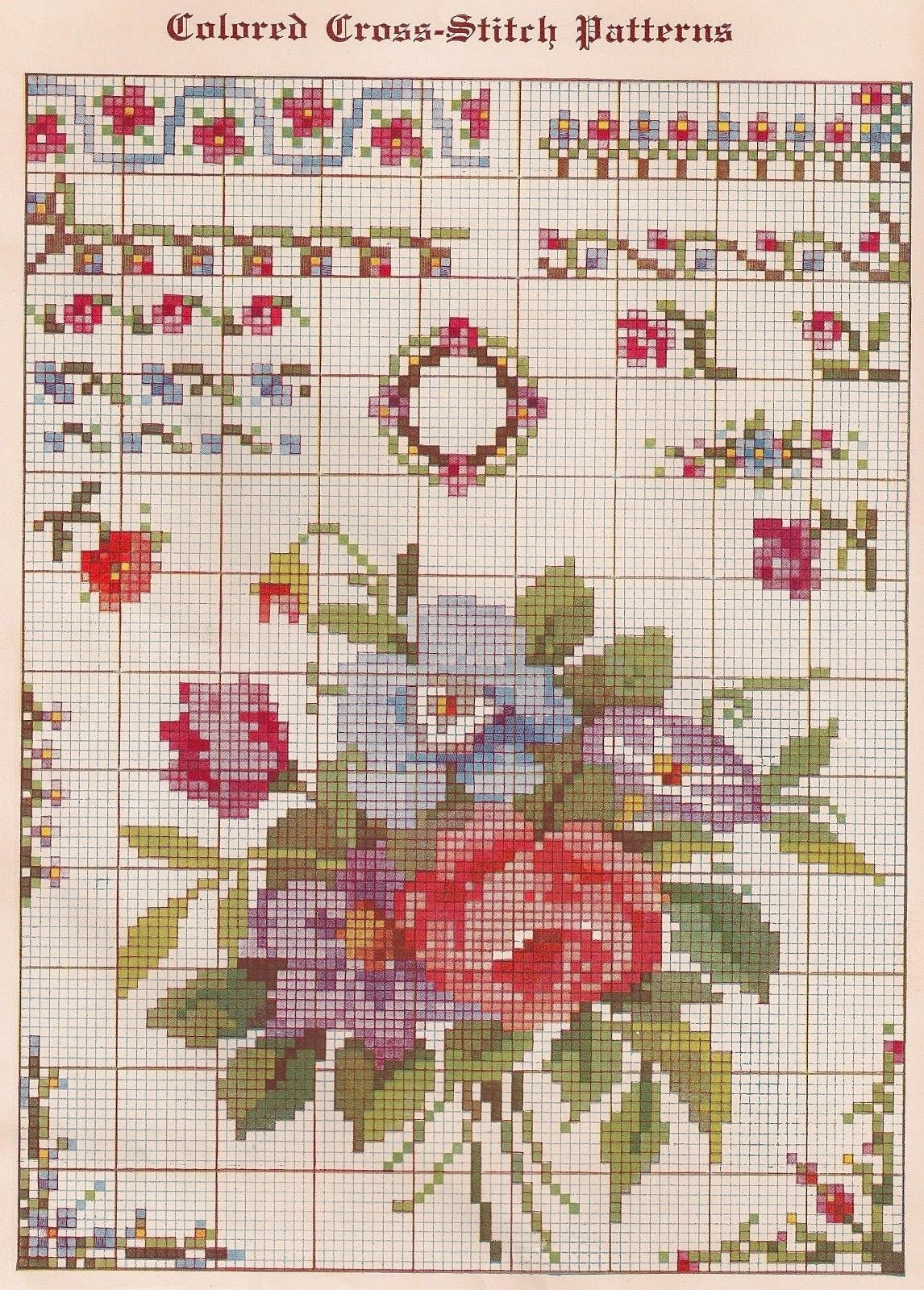 Cross Stitch Patterns Free Printable | Sentimental Baby: Free - Free Printable Cross Stitch Patterns Flowers
