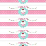 Cupcake Birthday Party With Free Printables | Party Ideas   Free Printable Water Bottle Label Template