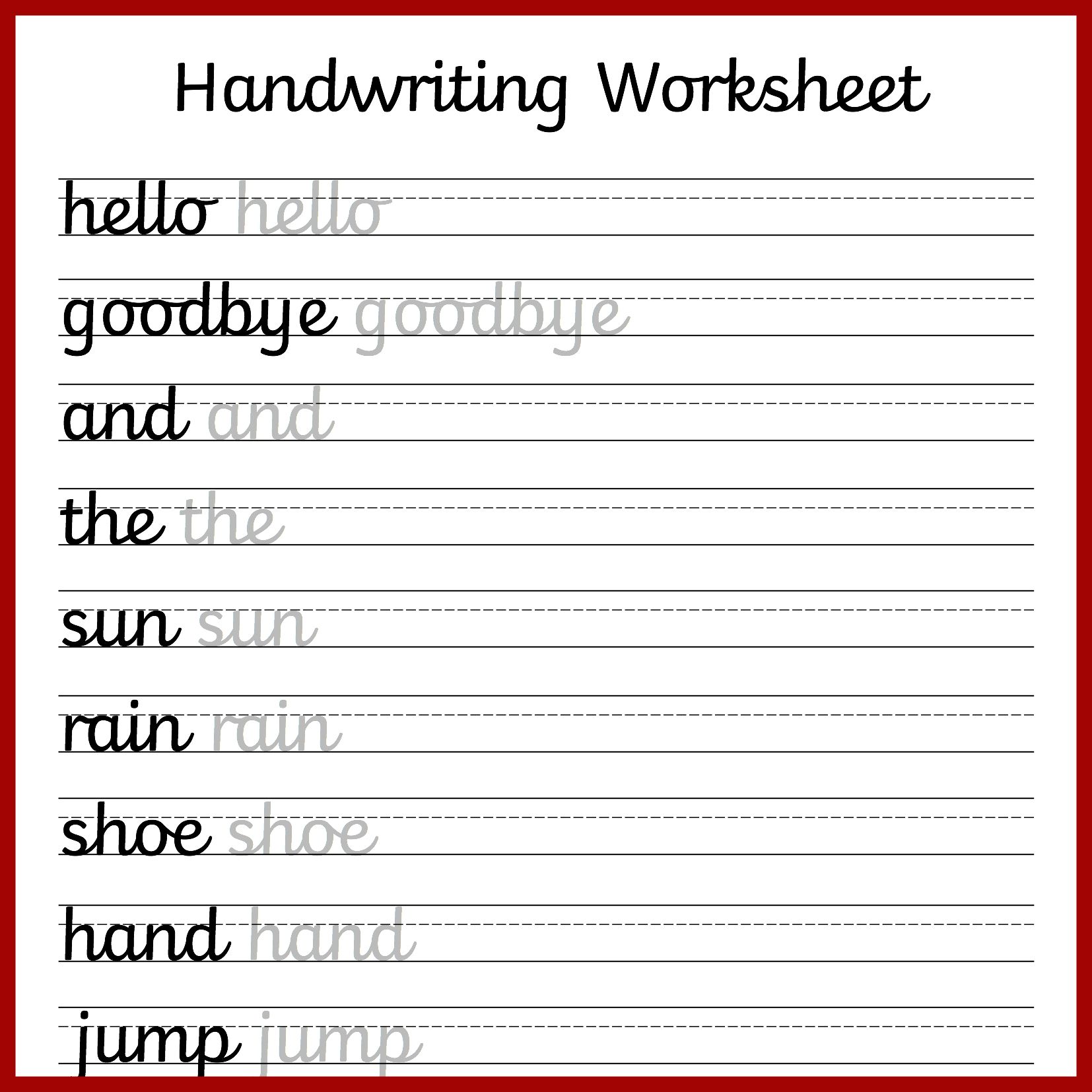 Cursive Handwriting Worksheets – Free Printable! ⋆ Mama Geek - Make Your Own Worksheets Free Printable