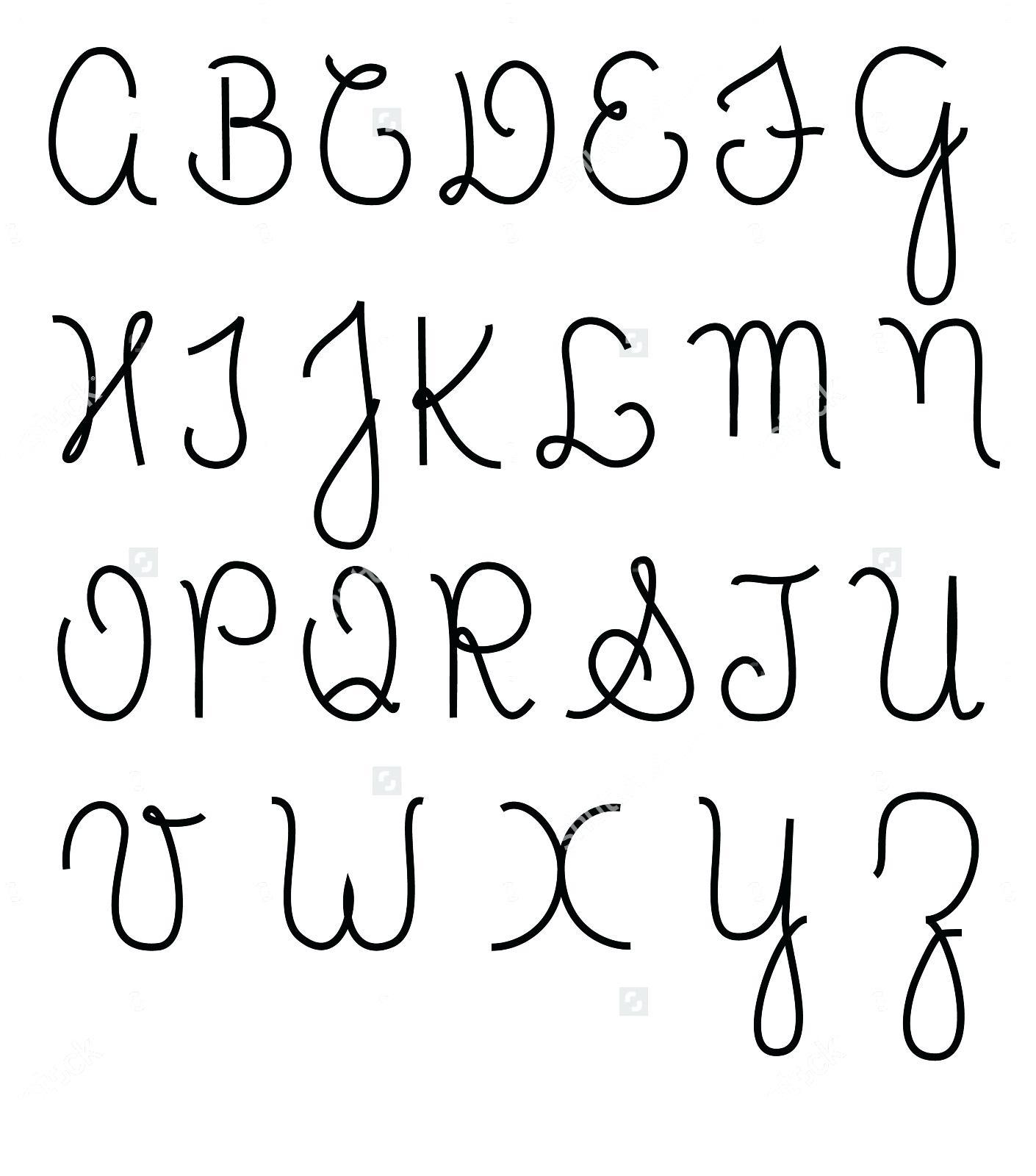 Cursive Lettering Alphabet Capital Letters Alphabet Cursive Free - Free Printable Cursive Alphabet