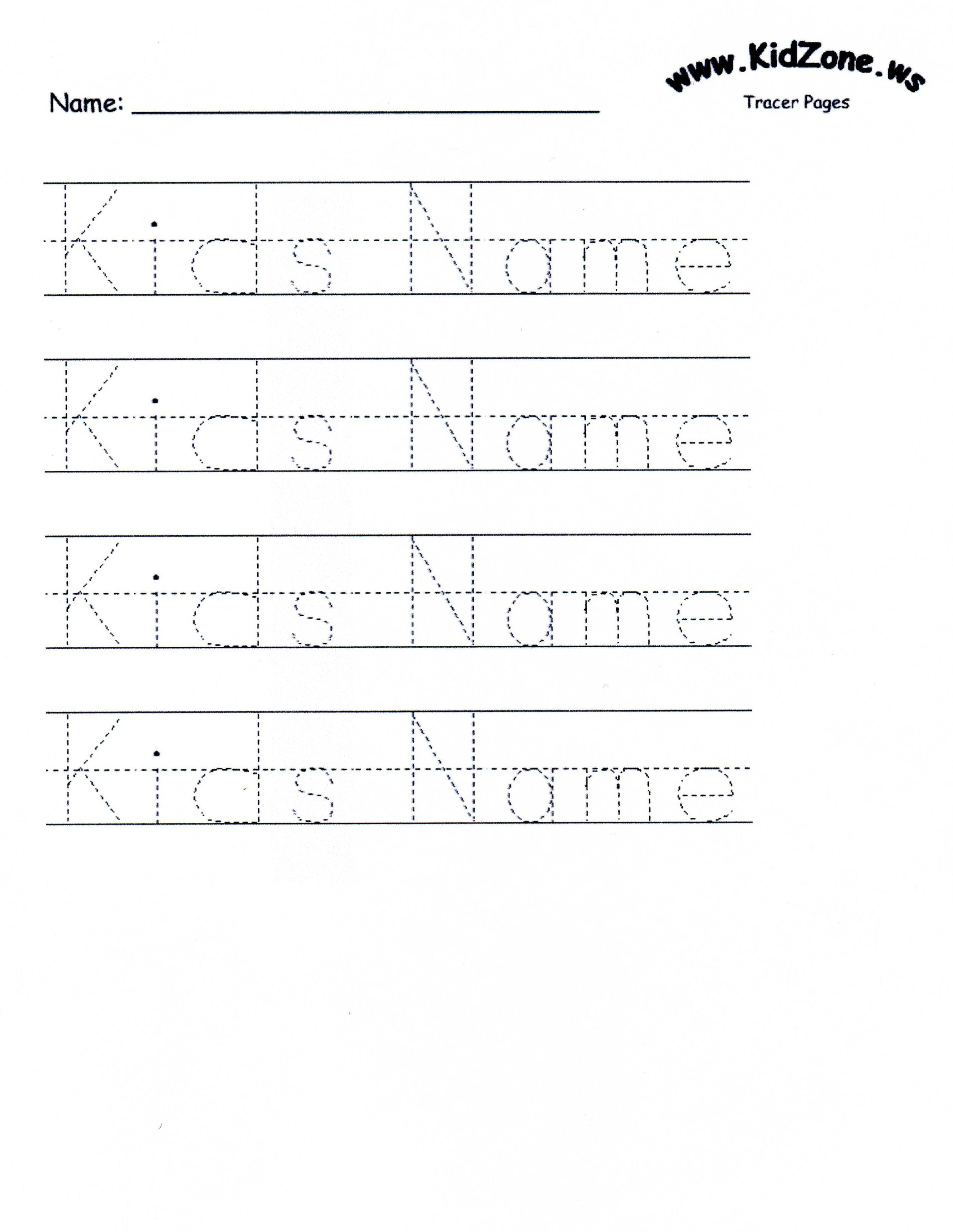 Customizable Printable Letter Pages | Teaching Mackenzie And Juliana - Free Printable Preschool Name Tracer Pages