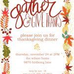 Customizable Thanksgiving Invitation | Free Printable   Free Printable Thanksgiving Invitations