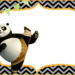 Cute Kung Fu Panda Free Printable Template | Coolest Invitation   Panda Bear Invitations Free Printable