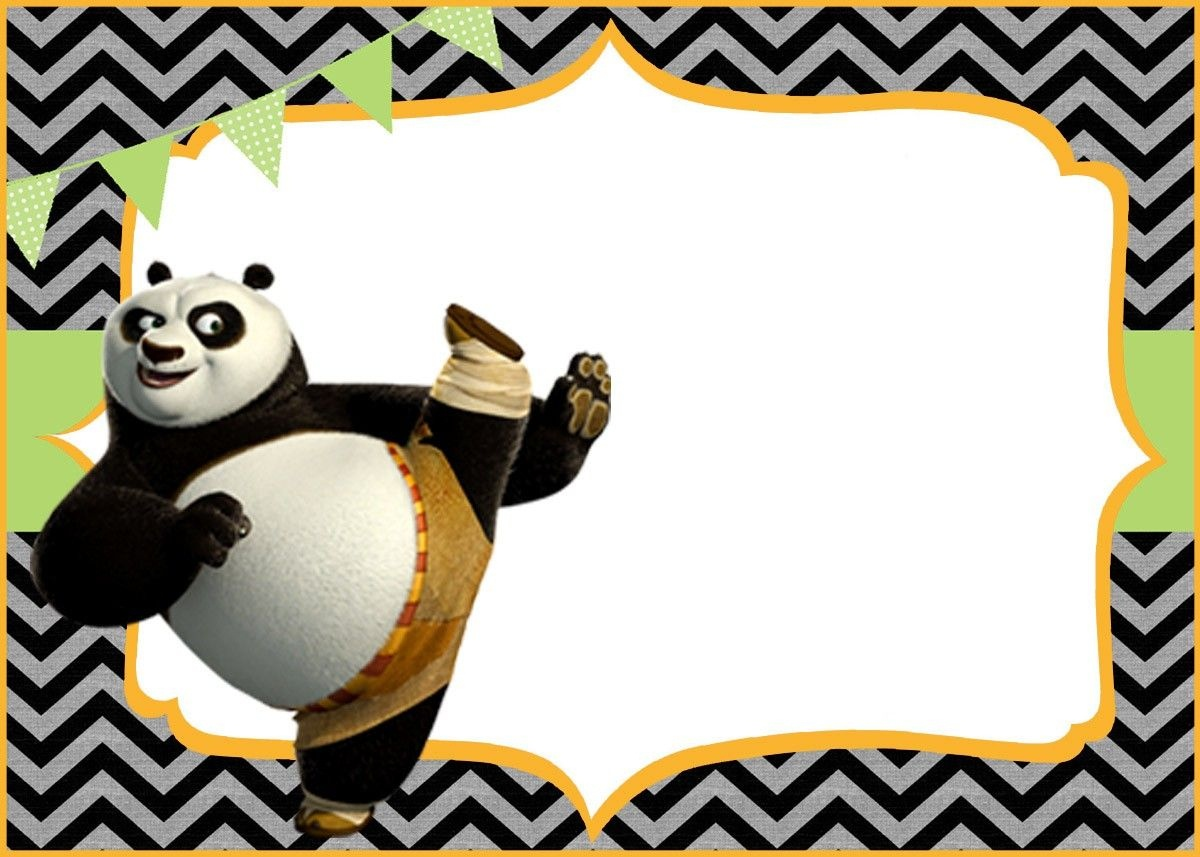 Cute Kung Fu Panda Free Printable Template | Coolest Invitation - Panda Bear Invitations Free Printable