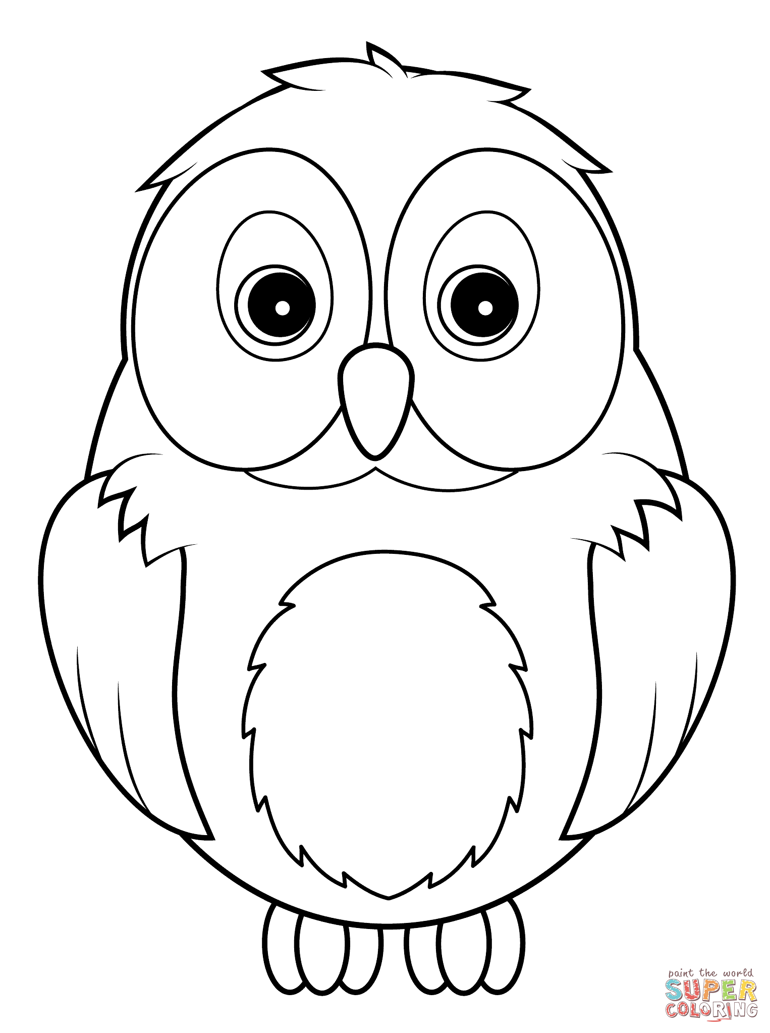 Cute Owl Coloring Page | Free Printable Coloring Pages - Free Printable Owl Coloring Sheets