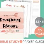 Daily Devotional Printable Set Weekly Bible Study Guide | Etsy   Free Printable Bible Study Guides