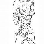 Day Of The Dead Skeleton Coloring Page | Free Printable Coloring Pages   Free Printable Skeleton Coloring Pages